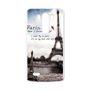 Canting_Good,Eiffel Tower, Custom Case for LG G3 (Laser Technology)