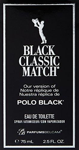 Parfums Belcam Black Classic Match Version of Polo Eau De Toilette Spray, 2.5 Fluid Ounce