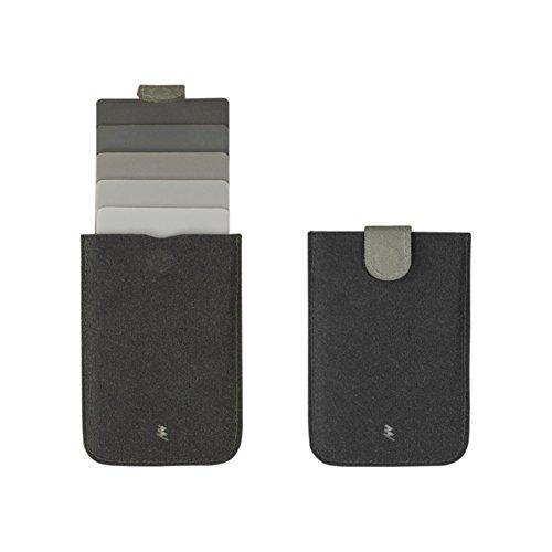 Fabric Credit Card Holder (Minimalist Card Wallet Sleeve for Men Slim Front Pocket Wallet Credit Card Holder (Dark Grey))