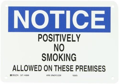 Amazon.com: Brady 42669 – Señal de prohibido fumar de ...
