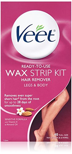 Veet Ready To Use Wax Strip Kit 40's (Legs And Body) (2 Pack)