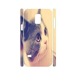 Dramatic Custom Animal Series Cat Pattern Phone Accessories Skin for Samsung Galaxy S5 Mini SM-G800 Case