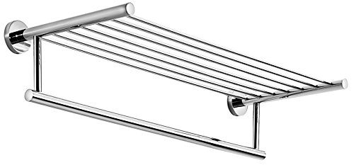 WS Bath Collections Spritz Collection Self-Adhesive Wall Mount Rack with Towel Bar, 24.4