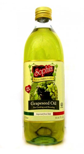 Sophia Grapeseed Oil Rich in Omega 3 and 9 - Great for Skin Care. 32 Ounce Imported From Italy Grape Seed Oil Make Grape Seed Oil