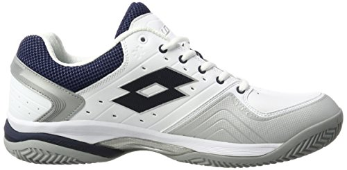 Lotto Raptor Lth Cly, Zapatillas de Tenis para Hombre Blanco (Wht/blu Avi)