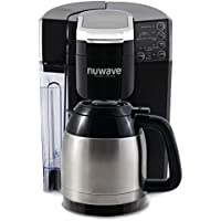 NuWave 45011 Bruhub Single Serve Coffee Maker with Stainless Steel Carafe