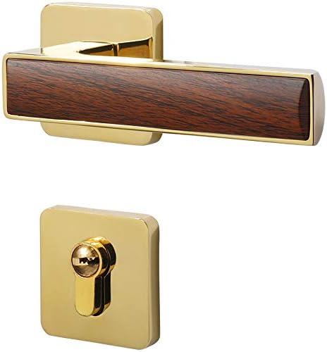 Amazon Com Aoeiuv Simple Interior Bedroom Door Lock Gold Modern Wood Grain Lock Mute Door Lock Home New Chinese Door Handle Home Kitchen