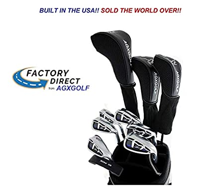 !! Bag NOT Included!! AGXGOLF Senior Men's Magnum XL Edition Complete Golf Club Set w/460cc Driver, 3 Wood, 3 Hybrid, 5-9 Irons, Wedge: Right Hand Cadet, Regular or Tall Lengths: Built in The USA