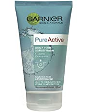Garnier Pure Active Daily Pore Scrub Wash 150ml