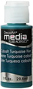 Deco Art Media Fluid Acrylic Paint, 1-Ounce, Cobalt Turquoise