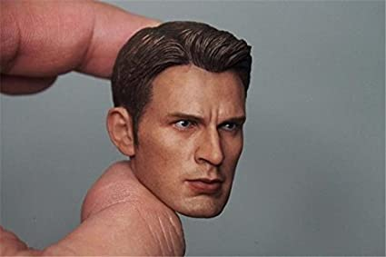 1//6 Chris Evan Captain America Head Sculpt 5.0 For Hot Toys Body in stock