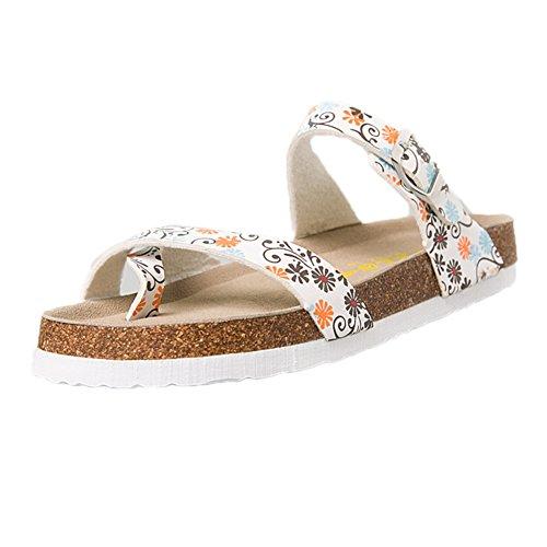 Homme Chaussures Adulte Tongs Jaune Fleur ZongSen Sandales en Unisexe Sandales Chaussures Plates Femme Liège 0Uq01ZxPw