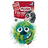 GiGwi 'Plush Friendz' Foam Rubber and Squeaker Crazy Ball Dog Toy Green, Medium