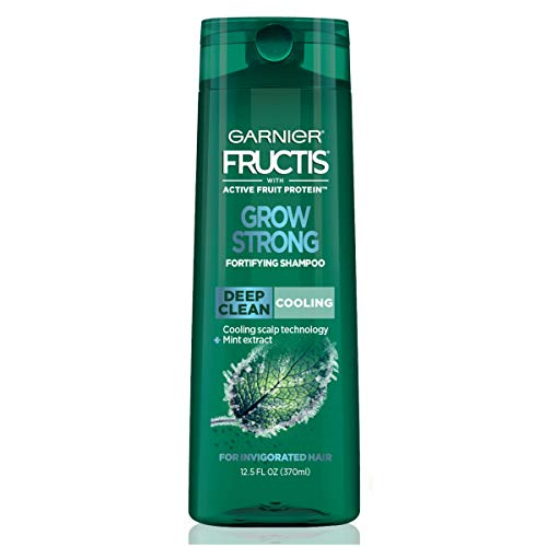 Garnier Hair Care Fructis Grow Strong Cooling Deep Clean Shampoo for Men for Invigorated Hair, 12.5 Fl Oz