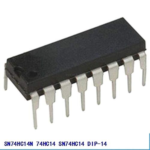10pcs//lot SN74HC14N 74HC14 SN74HC14 DIP-14 Inverters Hex Schmitt-Trigger