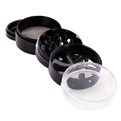 DCOU New Design Tobacco Grinder for Dry Herb and, 5 piece, Φ60mm, Black by DCOU (Image #4)