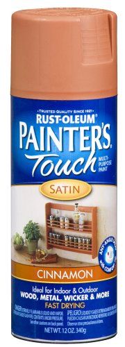 Rust-Oleum 240283 Painter's Touch Satin Spray, Cinnamon, 12-Ounce