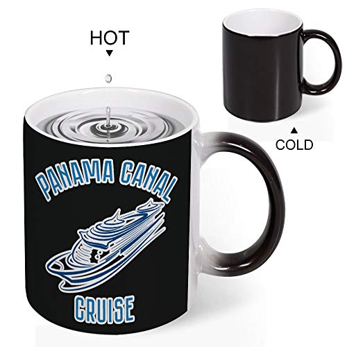 Uclipers Color Changing Funny Mug - Cool Coffee Tea To My Wife Coffee Mug Color Changing Panama Canal Cruise Vacation Trip Gift Tee Design Drinkware Ceramic Mugs Birthday Gift (Best Cruise Line For Panama Canal)