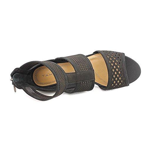 Tahari Nina Donna Nero Camoscio Scarpe Sandali Taglia Display