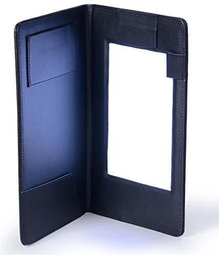 Restaurant Guest Check Presenter with LED Backlit Display, Includes Pockets for Credit Cards and Cash, Magnetic Clasp for Receipts, Synthetic Leather, Black
