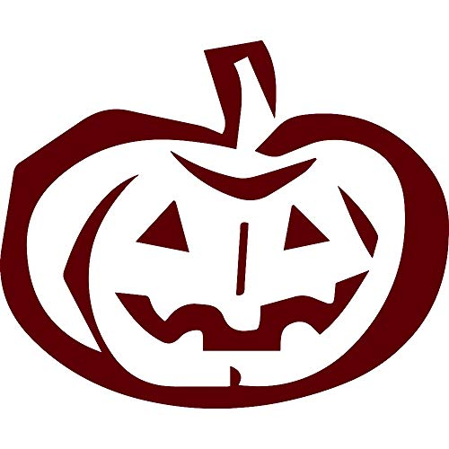 ANGDEST Pumpkin Stencil Drawing (Burgundy) (Set of 2) Premium Waterproof Vinyl Decal Stickers for Laptop Phone Accessory Helmet Car Window Bumper Mug Tuber Cup Door Wall Decoration