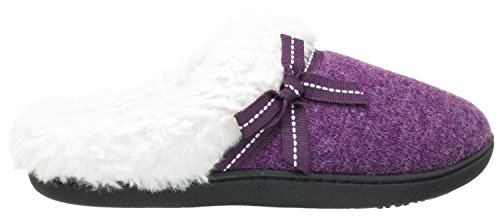 Isotoner Womens Heathered Knit Milly Hoodback Maestoso Viola