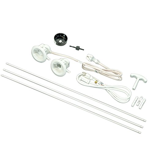 Cord Management System (Legrand - Wiremold CMK70 Flat Screen TV Cord and Cable Power Kit, Recessed In-Wall Cable Management System with PowerConnect, White.)