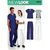 New Look Sewing Pattern 6876 Miss/Men Scrubs, Size A