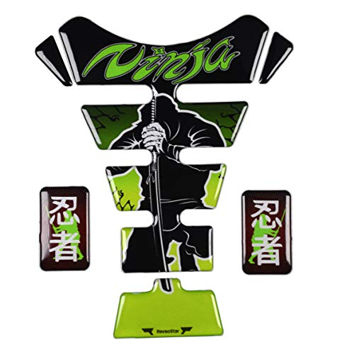- Revso Star Motorcycle Sticker Accessories Reflective Gas Tank Protector Pad Tank pad for Ninja 650 ZX636 ZX600 ZX-10R ZX14 ZX1400 ZX14R ABS 1000 ZX1000 (GREEN)