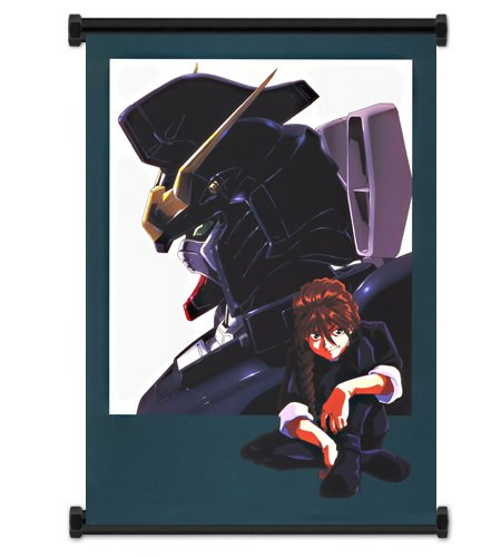 Mobile Suit Gundam Wing Anime Duo Maxwell Fabric Wall Scroll