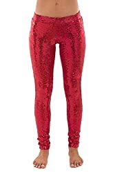 Women's Shiny Holiday Sequin Leggings