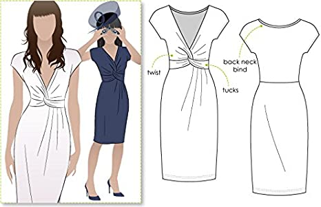 - Click for Other Sizes Available Sizes 18-30 Jacinta Knit Dress Style Arc Sewing Pattern