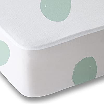 Where the Polka Dots Roam Full Size Bed Sheets Seafoam Green Polka Dot 4 Piece Set │ Unisex, Flexible Microfiber, Durable, Wrinkle-Resistant, Stain-Resistant Bedding │ Boys, Girls, Baby, Kids, Toddler: Home & Kitchen