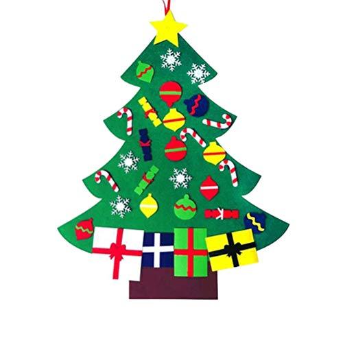BESTOYARD DIY Felt Christmas Tree Kids for Decorations
