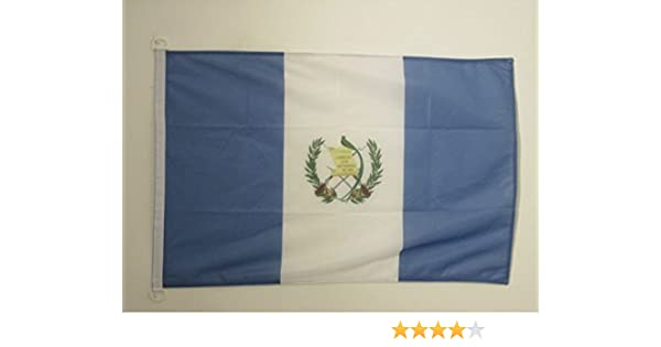 AZ FLAG Bandera Nautica de Guatemala 45x30cm - Pabellón de conveniencia GUATEMALTECA 30 x 45 cm Anillos: Amazon.es: Hogar