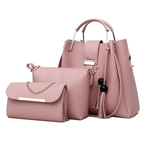 De Main Sac Mode De Pink Voyage Perle Couleur Sauvage Sacs Unie De Femmes Bandoulière à Des Frange Grande Simple Capacité De De Sac D'épaule Sac De De RwCFqO5g