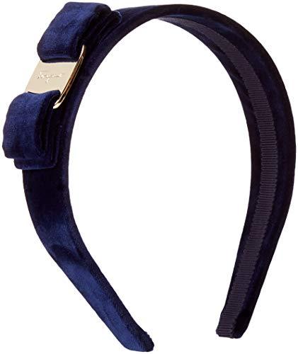 Salvatore Ferragamo Women's Velvet Headband, Oxford Blue, One Size