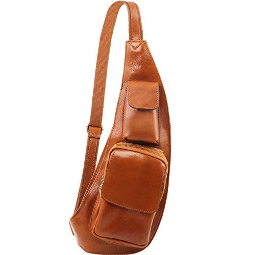 Tuscany Leather Riñonera en piel con bandolera Marrón oscuro Bolsos en piel Miel