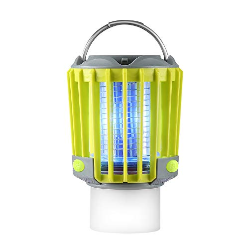 - SUPOLOGY Camping Lantern with Bug Zapper,IP67 Waterproof 4 Lighting Modes Dimmable USB Rechargeable for Home,Camping,Hiking,Fishing,Emergency