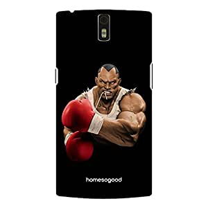 HomeSoGood Professional Heavy Weight Boxer Black 3D Mobile Case For OnePlus One (Back Cover)