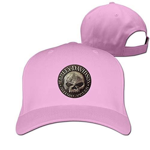 Pink Leather Skull Cap - BAIXRU LightCa Cool Distressed Willie G Skull Leather Adjustable \r\n Baseball Cap for Unisex,Pink