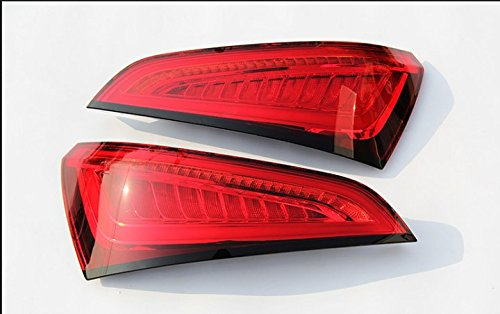 GOWE Car Styling for Audi Q5 2009-2015 LED Tail Lamp rear trunk lamp cover drl+signal+brake+reverse Dynamic steering taillight 0