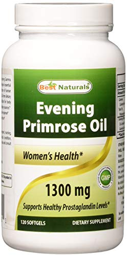 - Best Naturals Evening Primrose Oil 1300 mg 120 Softgels - Made from Non-GMO Hexane Free Cold Pressed Oil