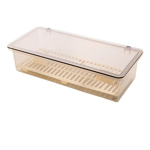 AIYoo Flatware Tray Kitchen Drawer Organizer with Lid and Drainer - Plastic Kitchen Cutlery Tray and Utensil Storage Container with Cover - Dinnerware Holder Gray