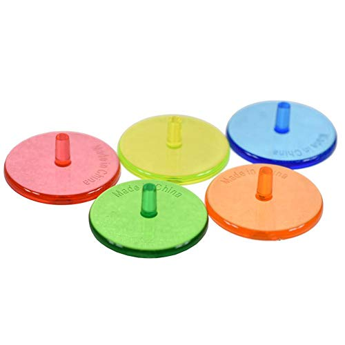 ttnight Golf Tees, 100pcs Colorful Plastic Golf Ball Position Markers 24mm Golf Ball Markers