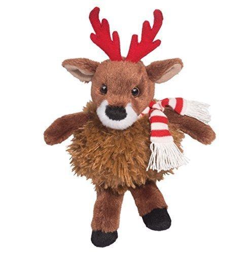Douglas Cuddle Toys 8  Plush SCHNITZEL PUFF the CHRISTMAS REINDEER w Scarf (Holiday 2014) by Douglas Cuddle Toys