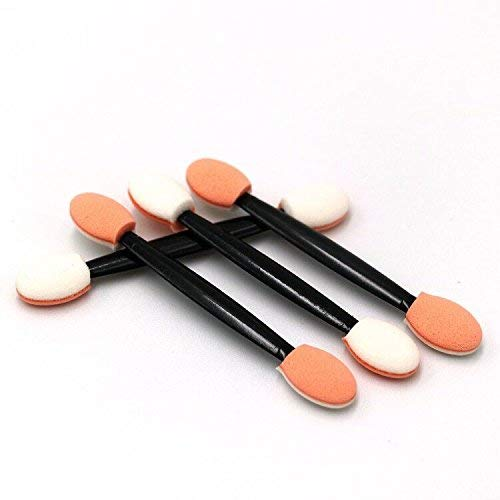LuLyL 100 PCS Disposable Eyeshadow Brush Dual Sided Oval Sponge Tipped Makeup Applicator Tool