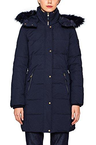 by edc 400 Femme Bleu Esprit Manteau Navy qTdTZ