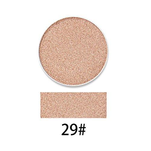 Poluck Women's Cosmetics Hot Singles Eye Shadow 9 Colors Optional Warm Natural Colorful Shimmer Glitter Waterproof Long Lasting EyeShadow Cosmetic (C)