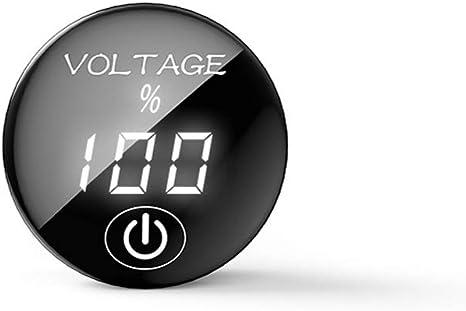 Siwetg Dc 5 V 48 V Panel Led Digital Spannungsmesser Voltmeter Mit Digitalanzeige Und Ein Aus Berührungsschalter Weiß Küche Haushalt